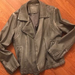 Max Studio Gray Stonewashed Jacket